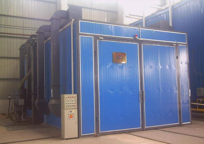 Single / Double Gun Sandblasting Room With Sand Blasting Pot Casting Parts Cleaning